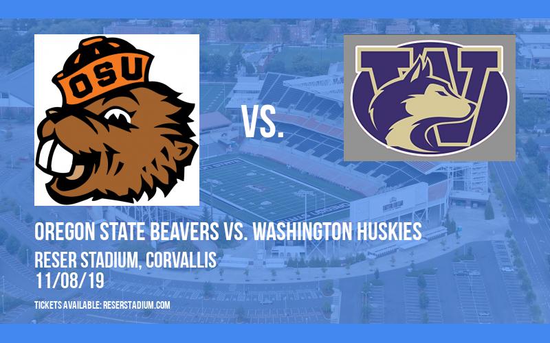 Oregon State Beavers vs. Washington Huskies at Reser Stadium