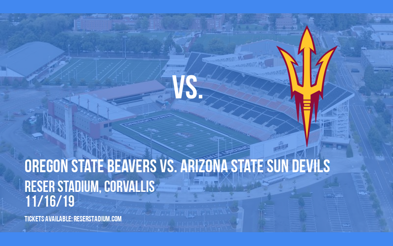 Oregon State Beavers vs. Arizona State Sun Devils at Reser Stadium