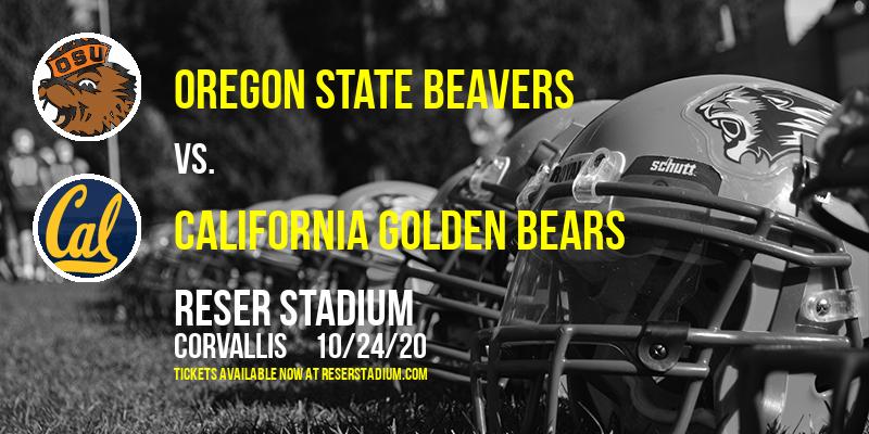 Oregon State Beavers vs. California Golden Bears at Reser Stadium