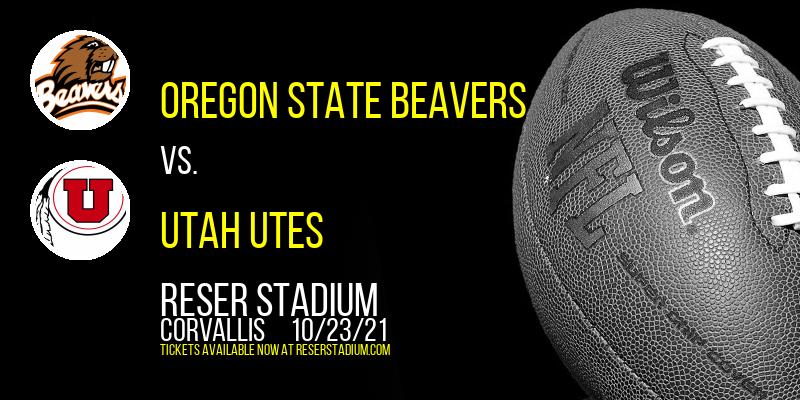 Oregon State Beavers vs. Utah Utes at Reser Stadium