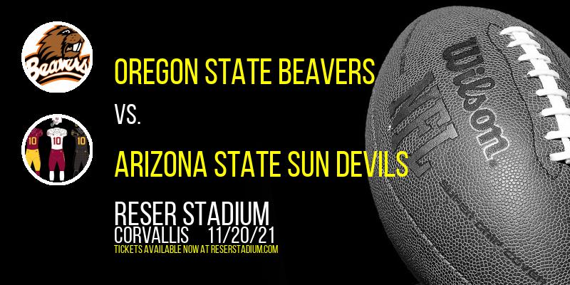 Oregon State Beavers vs. Arizona State Sun Devils at Reser Stadium